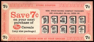 Post Cereal Coupon 1960s by Allen Roadside Pictures Licensed Under CC BY -NC-ND 2.0