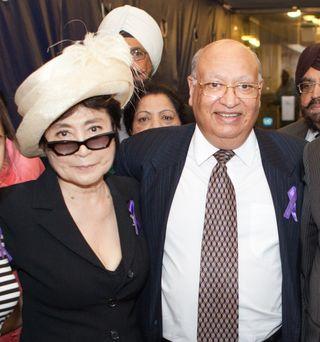 Lord Loomba with Yoko Ono