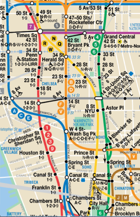 NYC Subway Map by MTA