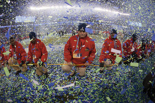 Super Bowl Confetti Drop by Anthony Quintano Flickr Licensed Under CC BY 2.0