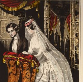 The marriage. Lithograph by Sarony & Major, c. 1846. Library of Congress Prints and Photographs Division.