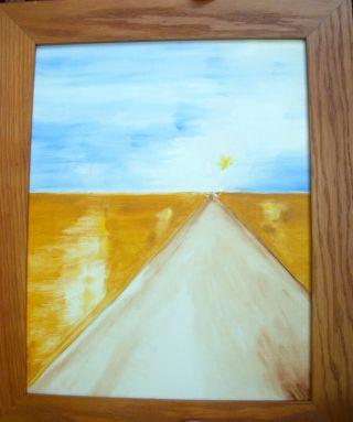 """""""The Road to Adventure,"""" oil, FJ Ninivaggi"""