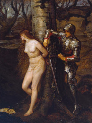 John Everett Millais' The Knight Errant of 1870, Wikimedia