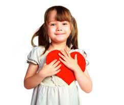 Girl with Valentine's Day heart