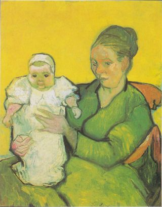 Portrait of Madame Augustine Roulin and Baby Marcelle, 1888 The Philadelphia Museum of Art, Philadelphia, Pennsylvania, labeled for reuse, Wikipdia