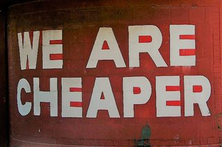 We are cheaper by Christopher Sessums Flickr Licensed Under CC BY 2.0