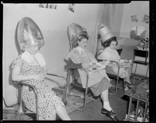 Woman in Hair Salon by Boston Public Library Flickr Licensed Under CC BY 2.0