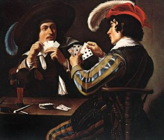 """The Card Players,"" painting by Theodoor Rombouts/Public Domain"