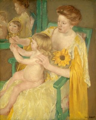 Mary Cassatt, Mother and Child, Chester Dale Collection, 1963.10.98, National Gallery of Art.