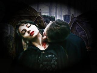 Gothic, Fantasy, Dark, Vampires, Couple, Death, Evil, labeled for reuse, Pixabay