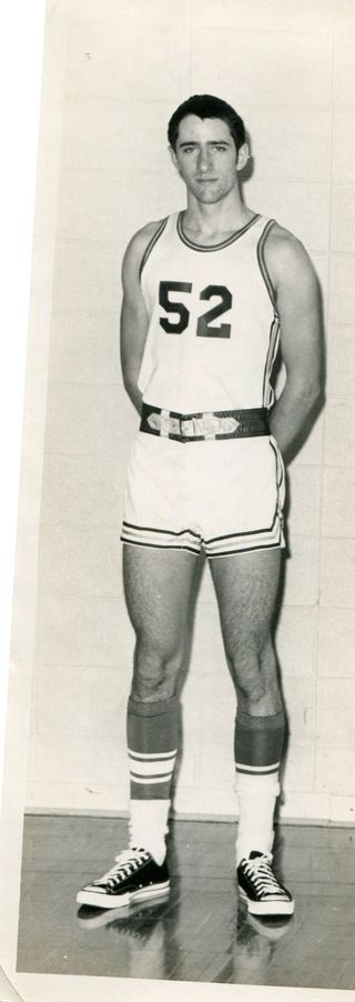 The author as a high school basketball player. Alas, low talent and low grit (photo courtesy of author).