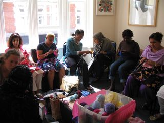 Knitting Group Photo, Beverley Costa,with permission
