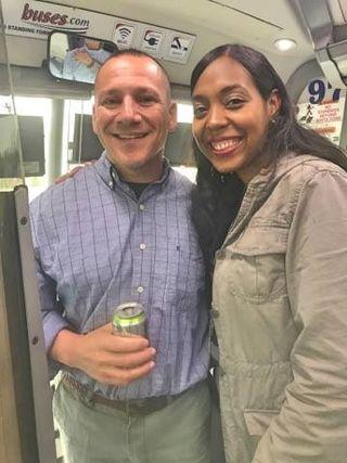 Glenn Geher; with alumna, Sharrell Matta