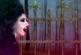 Vampire, Background, Night, Fog, Gothic, labeled for reuse, Pixabay