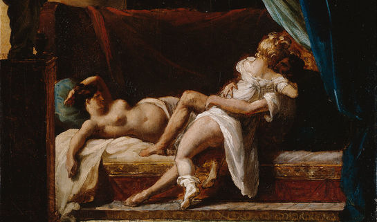 Three Lovers by Theodore Gericault, labeled for reuse, Wikimedia Commons