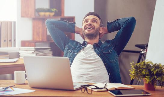 Cheerful man. G-Stock Studio/Shutterstock