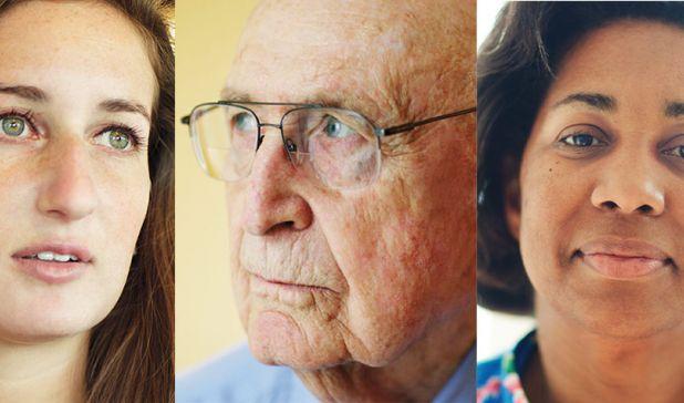 Image: Headshots of Stephanie Kaplan, Martin Levin and Diane Broadnax