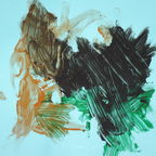A painting by the chimpanzee Ockie
