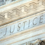 """Justice"" carved on the US Supreme Court building"