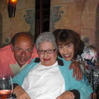 My brother and I celebrating our mother's 85th birthday.