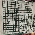 Child's Drawing of Detention at Border Facility