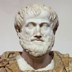 The image of Aristotle is in the public domain, according to Wikipedia.