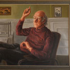 'Peter Higgs portrait' by Lucinda Mackay, CC BY-SA 4.0