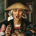 Pieter Huys' A Woman Enraged, obtained from Wikimedia Commons
