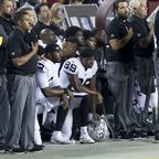 Oakland Raiders National Anthem Kneeling