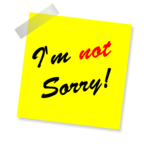 """I'm Not Sorry"" by Maklay62 / Pixabay / CC0 Public Domain"