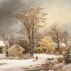 George Henry Durrie's 'Winter in the Country: A Cold Morning' (1861)/Wikimedia Commons