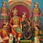 draupadi and husbands: wikipedia, public domain