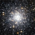 en:Messier 69 globular cluster by en:Hubble Space Telescope. Created for NASA by Space Telescope Science Institute. In the public domain. Retrieved via Wikimedia Commons.