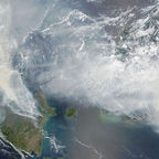"""Satellite image of 2015 Southeast Asian haze - 20150924"" by NASA Earth Observatory image by Adam Voiland and Jeff Schmaltz (LANCE MODIS Rapid Response) Licensed under Public Domain"