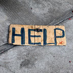 """Help""/Quinn Dombrowski/CC BY-SA 2.0"