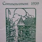 Commencement 1939 Program Photograph Copyright © 2016 by Susan Hooper