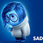 "Sadness, from Pixar's ""Inside Out"". From Pixar's Wiki page"