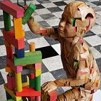 Wikimedia Commons: Wooden Sculpture of Science Genetics