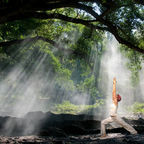 © Kim Pin Tan | Dreamstime.com - Virabhadrasana, hatha yoga. Used with permission.