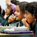 Children eating school meals, USDA, CC 2.0