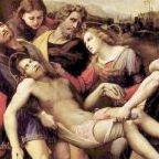 Jesus being taken from the cross. Rapael (1483-1520)