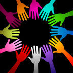 © Dreamstime   Colorful hands in a circle
