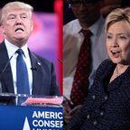 Wikimedia/ Donald Trump and Hilary Clinton