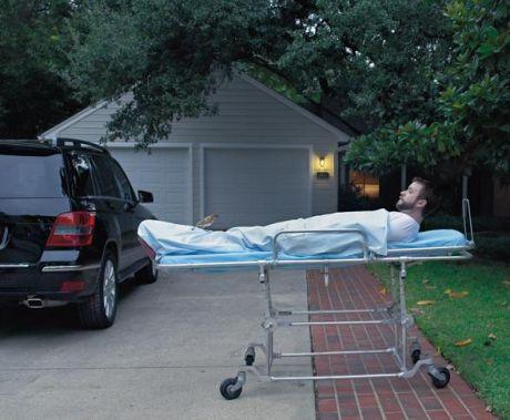 Man on a stretcher