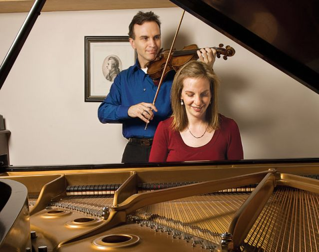 Siblings Shaham play a piano/violin duet