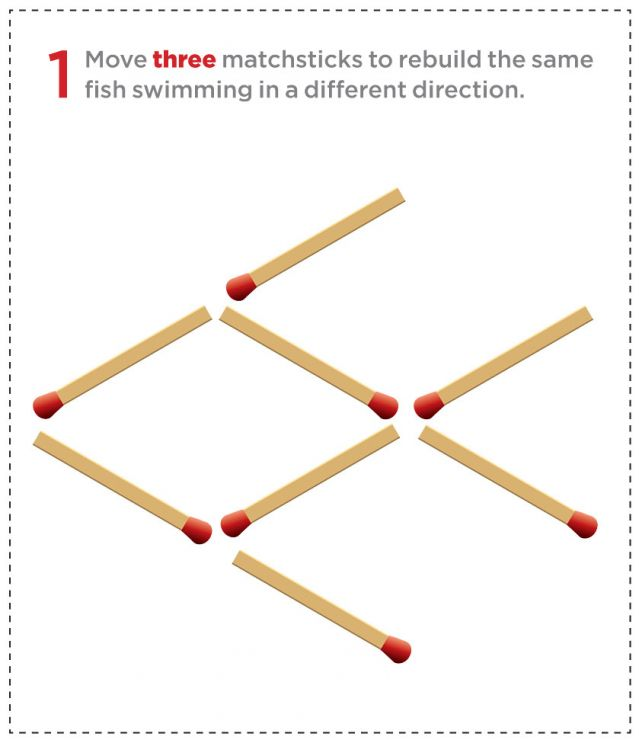 Pattern of matchsticks