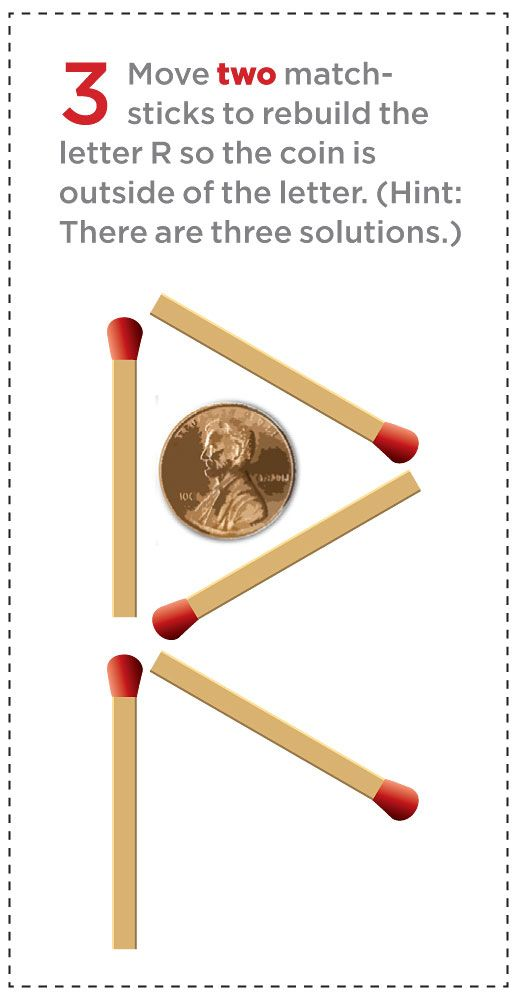 Match sticks around a penny