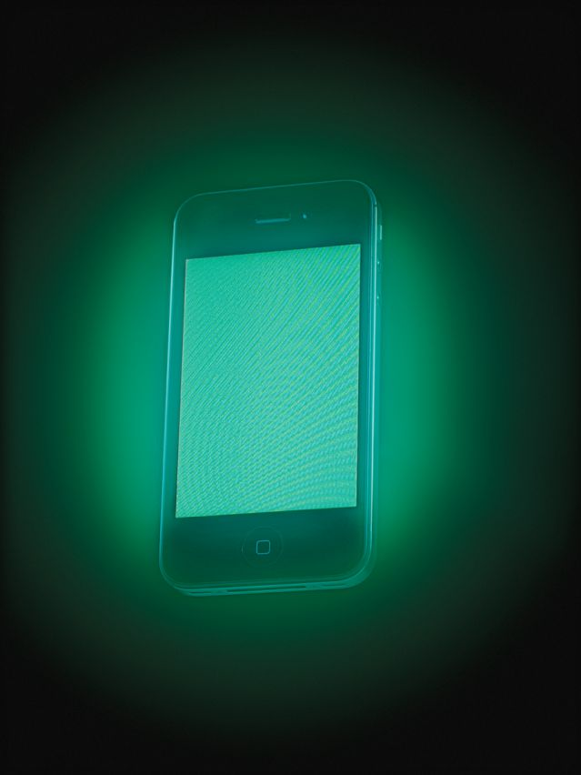 Glowing cell phone