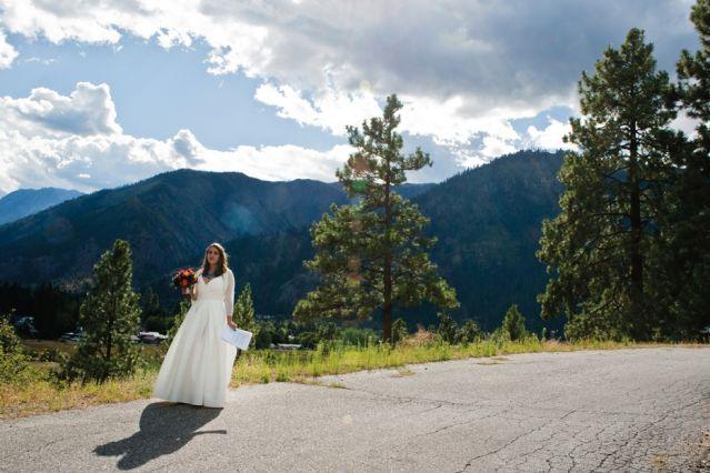 Bride on a mountain