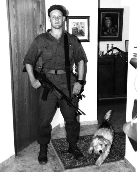 Daniel Lewin 1990 in his IDF uniform